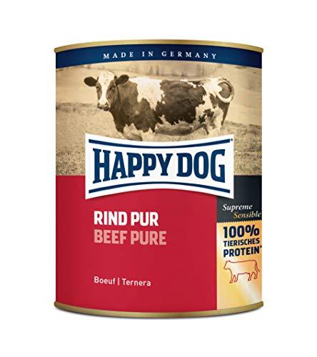 Happy Dog Carne in scatola di puro manzo, confezione da 6 (6 x 800 g)