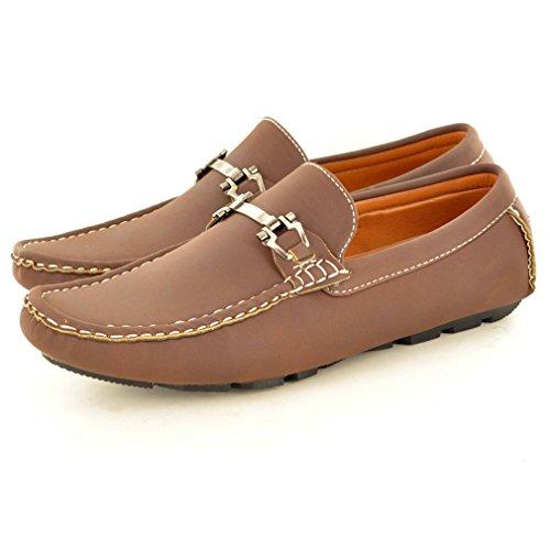 New Herren Casual Loafer Mokassins Slip auf Schuhe Dunkelbraun