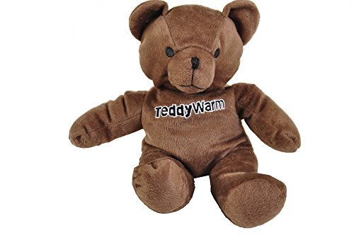 Pedi Teddy Warm Körnerkissen Ersatz für Wärmflasche Wärmekissen Kirschkernkissen, Farbe:braun - Pedi Hausschuhe