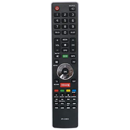 VINABTY ER-33903 Fernbedienung SUB ER-33903HS kompatibel mit HISENSE TV 50K366WCEU LTDN50K366WCEU LTDN40K366WSNEU 40K366WCEU 50K366WSGEU LTDN50K366WSGEU 55K600XWSEU3D 40K366WSNEU LTDN40K366WCEU