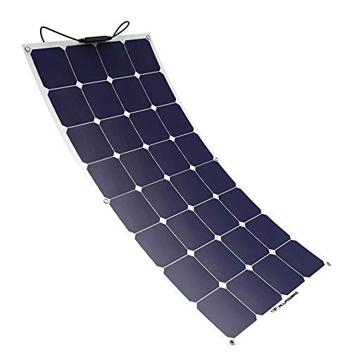 L@ily Solar Panel Charger 100W 18V 12V Flexibles SunPower Solar Ladegerät Modul mit MC4 für RV, Boot, Kabine, Zelt, Auto, Trailer ect Oberfläche Rv Trailer-batterien