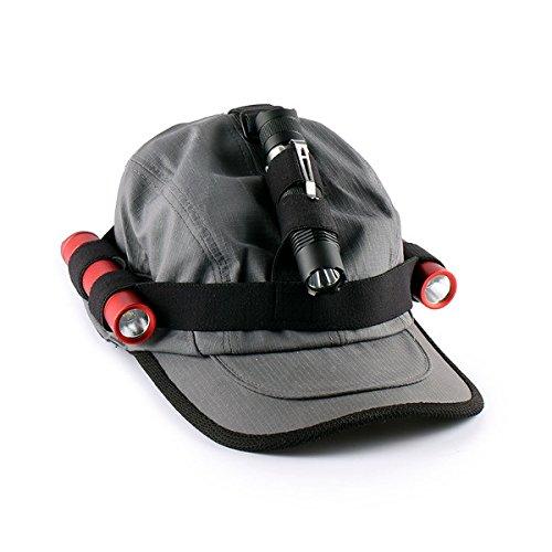Preisvergleich Produktbild Pegasus Convoy Taschenlampe Stirnband Headlight Band für 18650 Taschenlampe schwarz