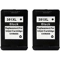 BXA Compatible para HP 301XL Black - Paquete de 2 cartuchos de tinta para HP Envy 4500, 4502, 4504, 4505, 4507, 5530, 5532, 5534, 5539 e All-in-One, negro