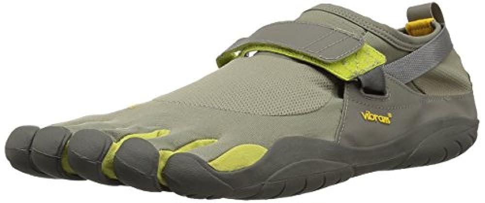 Купить мужская обувь для занятий фитнесом на открытом воздухе Vibram FiveFingers ✓ Vibram FiveFingers Herren KSO Cross-Trainer Grau Taupe/Palm/Grey, 45 EU ✓ amaazoon.ru