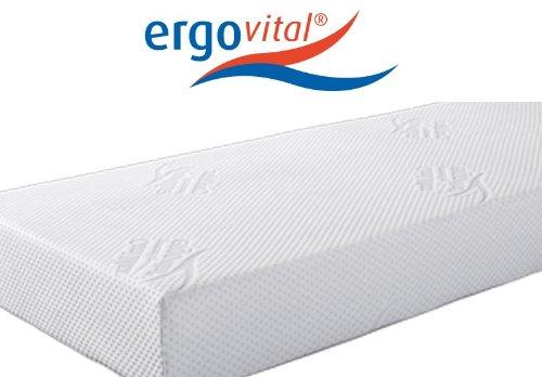 Ergovital Ergowell Viscoschaum-Matratze mit Kaltschaum und Microtaschenfedernkern 100 Punkte im LGA-Test, Größe:100 x 220 cm, Härtegrad:H3