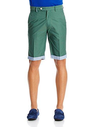hackett-london-roll-up-shorts-bermuda-para-hombre-verde-talla-33