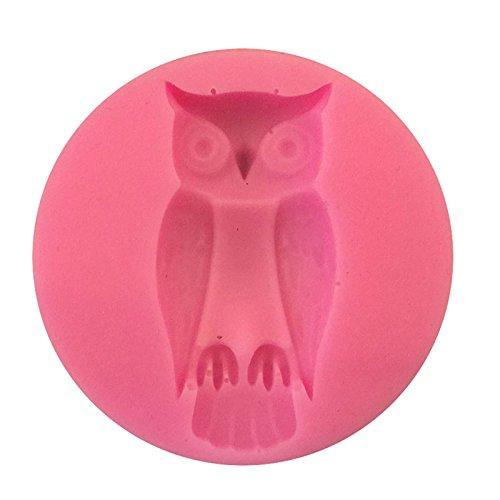 ma Figur Silikon Fondant Mold Antihaft-Kuchen-Form-handgemachte Praline Mold für Kinder zufällige Farbe (Eule) (Halloween-figur)