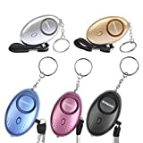 OFNMY Taschenalarm 120-130dB Personal Alarm mit Taschenlampe Schlüsselanhänger, Panikalarm Selbstverteidigung Sirene für Frauen Kinder (5 Stück)