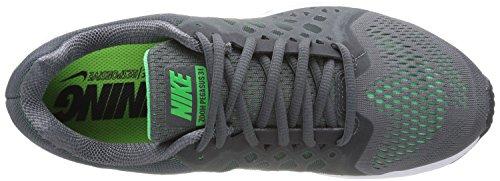 Nike Air Zoom Pegasus 31, Scarpe sportive, Uomo Dark Grey/Psn Green/Flash Lime/White