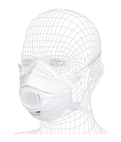 10 x SOLIDMAXX PRO Atemschutzmaske FFP3 mit Ventil - filtrierende Halbmaske mit größerem Ausatemventil und Nasenbügel für optimalen Sitz
