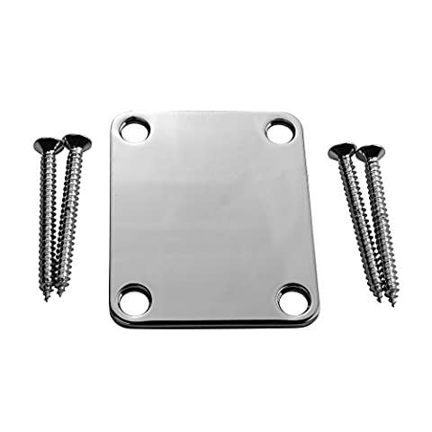 Stratocaster Telecaster Electric Guitar Neck Plate Screws Included -