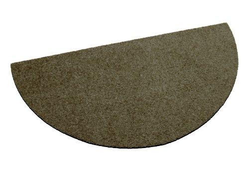 Deko-Matten-Shop Fußmatte Classic, Schmutzfangmatte, halbrund, 40x80 cm, Braun, in 10 Größen und 11 Farben