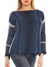 8b081ad041 Amazon.it: maglione lana grossa - Blu / Donna: Abbigliamento
