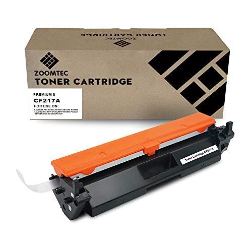 ZOOMTEC 17A CF217A (Sin Chip) Cartucho De Tóner Negro Compatible para HP Laserjet Pro M102w M102a MFP M130nw MFP M130fw MFP M130fn MFP M130a Impresora(1 Negro)