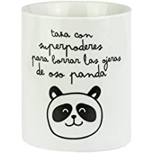 Mr. Wonderful Taza Superpoderes para borrar Las ojeras de Oso Panda, Porcelana, 7