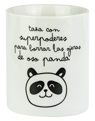 "Mr.Wonderful - Taza con ""Superpoderes para borrar las ojeras de oso panda"""