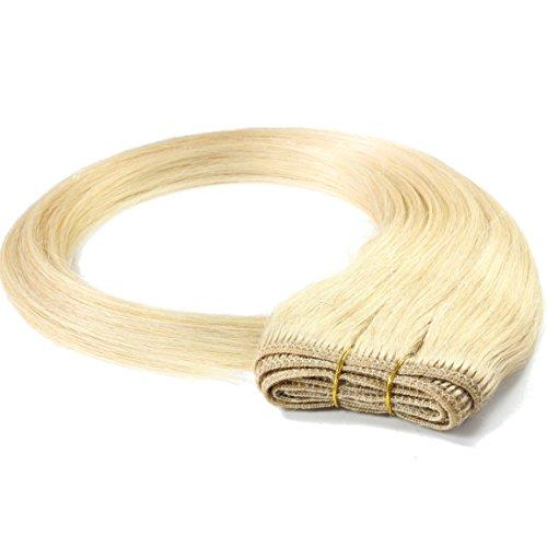 Just Beautiful Hair 100g REMY Echthaar-Tresse - glatt - 60 cm - #20 aschblond - Nähen Echthaar 100 Extensions