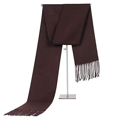 Winter-schal Mit Fransen (Easy Go Shopping New Herren Schals mit Fransen Schal Geschenk Winter Schals für Männer (Farbe : Braun))