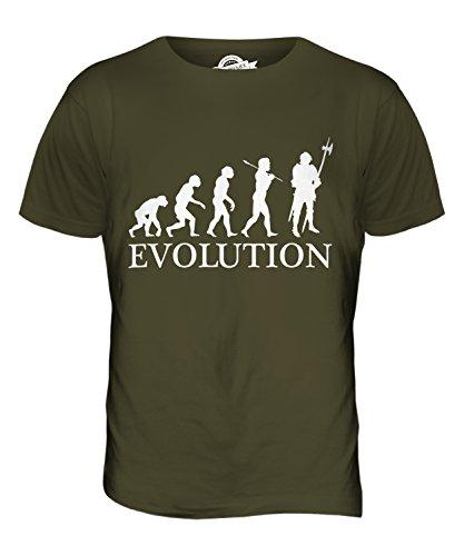 CandyMix Ritter Evolution Des Menschen Herren T Shirt Khaki Grün