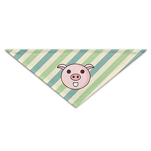 Hectwya Pet Bandanas süße hellgrüne Blaue Streifen PrintingDog Geburtstag Pet Bandana Halsbänder für Hunde und ()