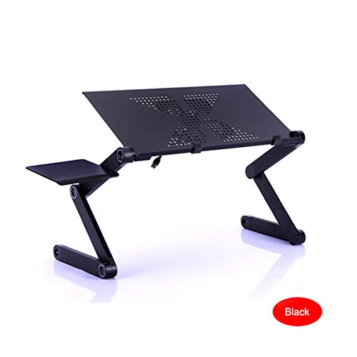 Alftek Portable Laptop Desk Computer Table Stand Aluminium Alloy Adjustable Foldable Sofa Bed Tray for Home Office Dormitory -