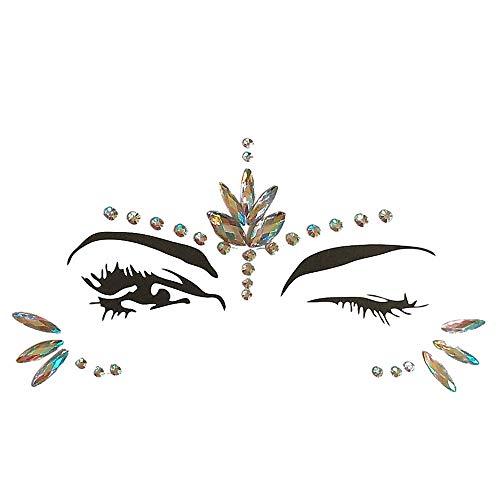 Gesicht Edelsteine,OHQ Gesicht Schmucksteine Juwelen Sticker,Aufkleber Gesicht Temporäre Tattoos Gesichts Aufkleber,Glitzersteine Aufkleber,Schmucksteine Selbstklebend Gesicht