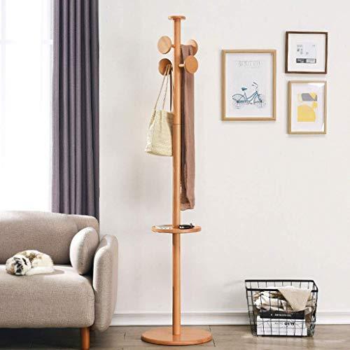 Madera Perchero percha aterrizaje dormitorio ropa rack simple solo polo sala de estar Foyer Creative percha (4 ganchos),Orange