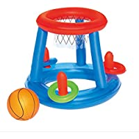 Laurelmartina Agua Baloncesto Baloncesto Piscina Flotador Piscina Inflable Juguete Deporte acuático Juguete Piscina Juguetes flotantes para