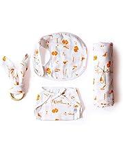 Shumee Organic Cotton 4 Piece New Born Baby Gift Set