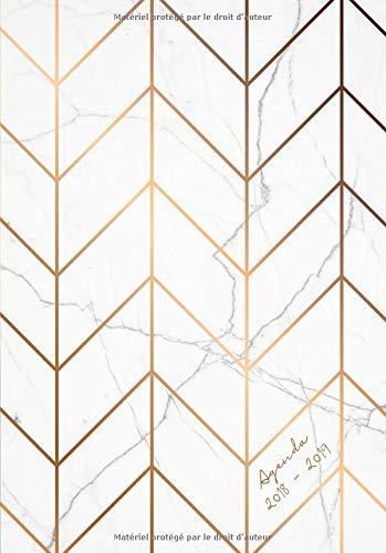 Agenda 2018-2019: Agenda Semainer de Juillet 2018 à Août 2019, A5, motif motif abstrait marbre par Papeterie Collectif