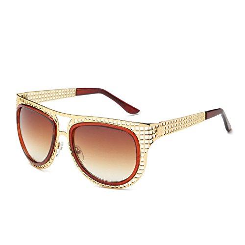 GUO Die Sonnenbrille Persönlichkeit Frau 蛤 Sonnenbrille C ausgesetzt