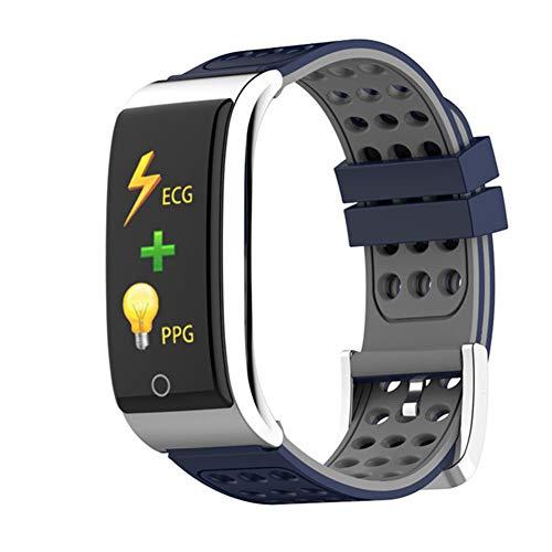 Fitness-Tracker-EKG + PPG-Herzfrequenz-Blutdruck-Schlafüberwachung Anruferinformation Wecker Erinnerung Kalorien-Sport-Schrittzähler,A