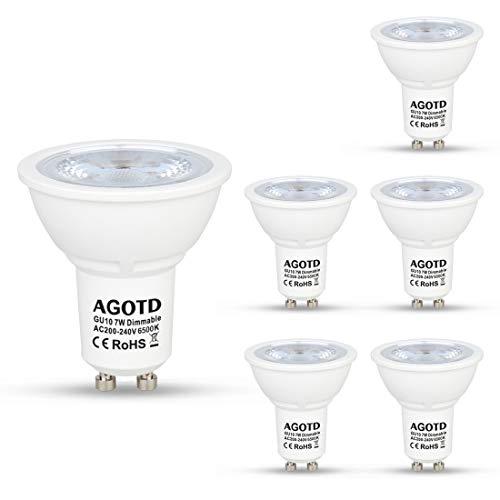 AGOTD Regulable Bombillas LED Gu10 7w, Lampara de Led GU10, Blanco Frío...