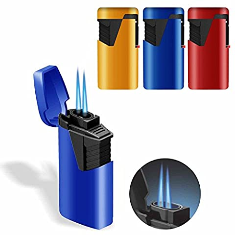 6 x Zenga ZL9 ZL-9 Twin Turbo Jet Windproof Blue Flame Rubberized Lighter & Tigerbox Safety Matches