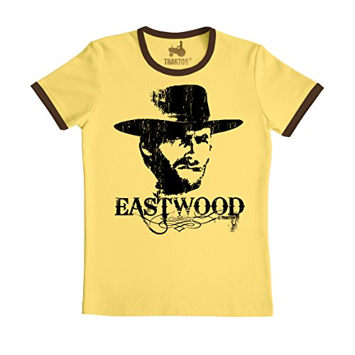 owboy - Film Rundhals T-Shirt - gelb - Original Marke TRAKTOR®, Größe M (Clint Eastwood Cowboy Kostüme)