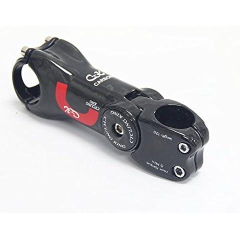 Signswise carbonio lucido 4-asse regolabile su strada/MTB Mountain bicicletta manubrio 31,8 x 110 mm