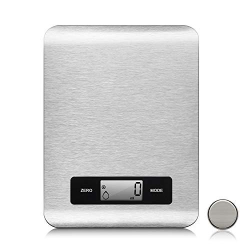 Bilancia da cucina, 5kg 2.8 gram/1gbilancia elettronica digitale alta precisione misurazione display lcd multifunzione da cucina e acciaio inossidabile
