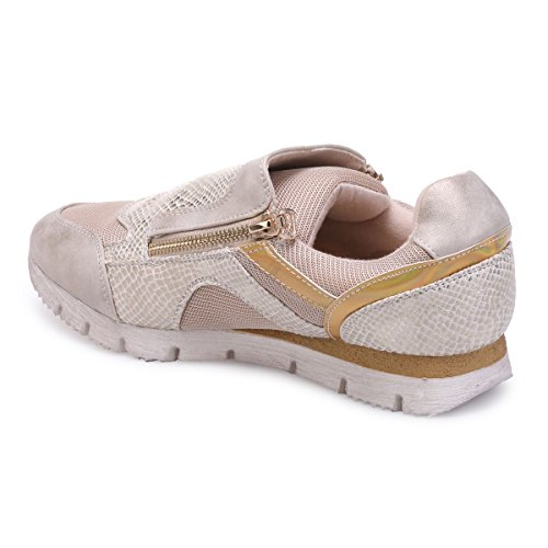 La Modeuse Baskets Basses Type Running Beige