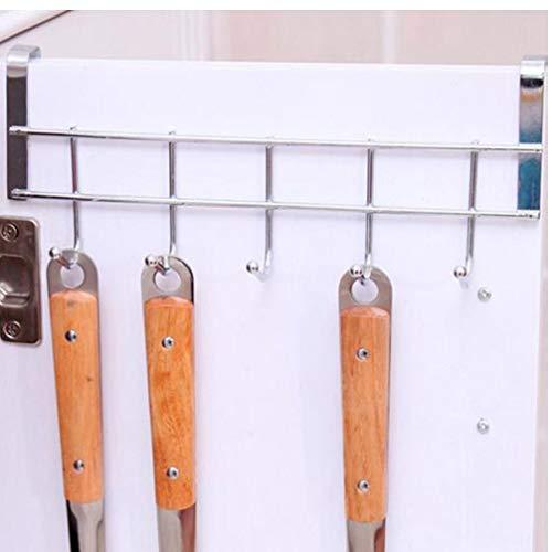 Gamloious 5 Haken Badezimmer-Tür-Aufhänger-Haken Küche Aufhänger Organizer Metall Schrank Kleidung Türetagere Handtuchhalter Einhängegestell -