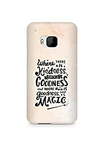 AMEZ where there is kindness there is goodness Back Cover For HTC One M9