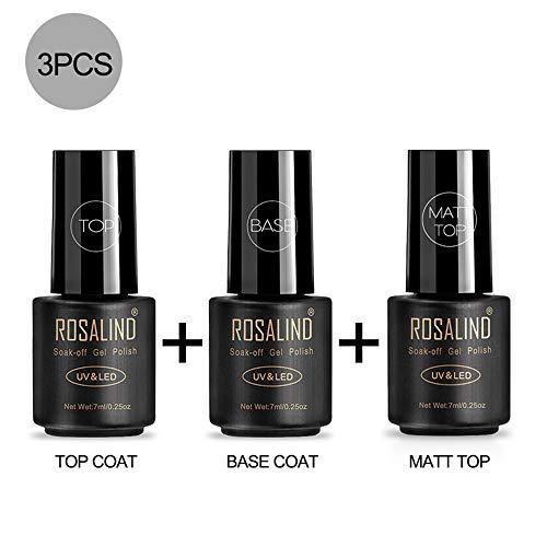 ROSALIND Base Top Coat Matte Top Coat Semipermentes
