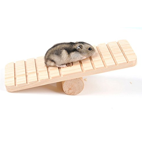 Holz Wippe für Pet Zwerg Hamster Gerbil Rat Maus Chinchillas Eichhörnchen klein Animal Play House Käfig Nest Übung Spielzeug Zähne kauen Spielzeug
