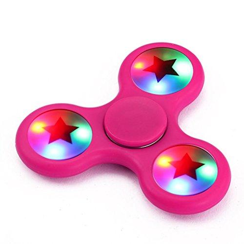 Ouneed ® Fidget Hand Spinner Juguete-¡Gran venta! LED de luz Fidget mano...