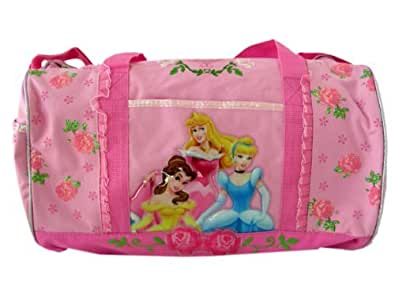 Disney Princess and Roses Duffel Bag Featuring Belle, Aurora, and Cinderella - Gym Bag