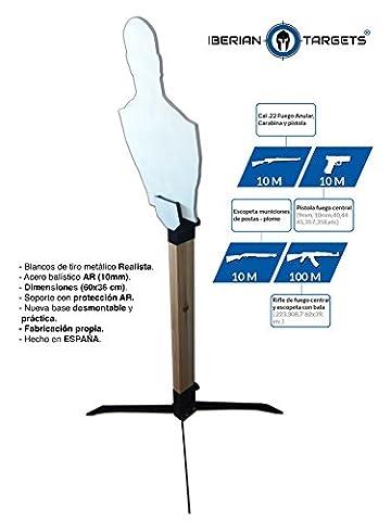 Cible métallique en acier résistant pour tir. Pack Steel Target