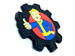 Vault Boy Fallout PVC Airsoft Velcro Fan Patch