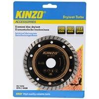Kinzo 71762 Disque diamant sciage sec/humide turbo pour brique/ardoise/béton 125 mm