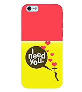 Printtech Latest Designer Printed Need You Quote Back Case Cover for Apple iPhone 6S Plus