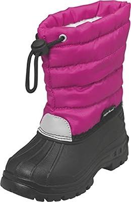 Playshoes gefütterte Kinder Winterstiefel, warme Schneestiefel mit Innenfutter