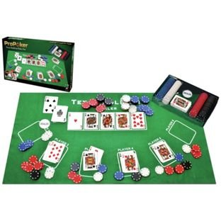 Casino Green Felt Layout ProPoker Texas Hold'em Poker Set. 905/8204